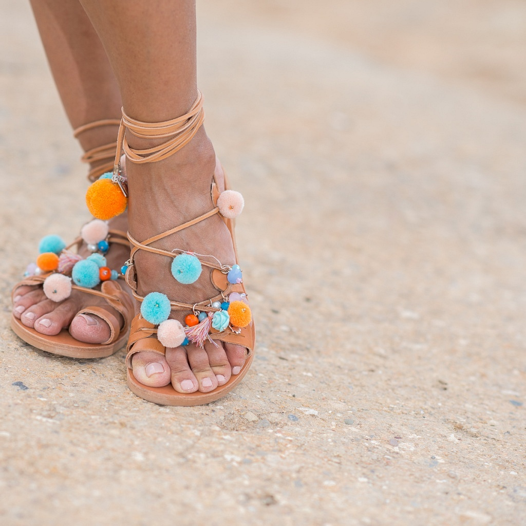 Sandals from Cotton Beach Club's boutique
