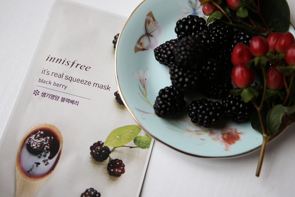 innisfree it's a real squeeze mask black berry