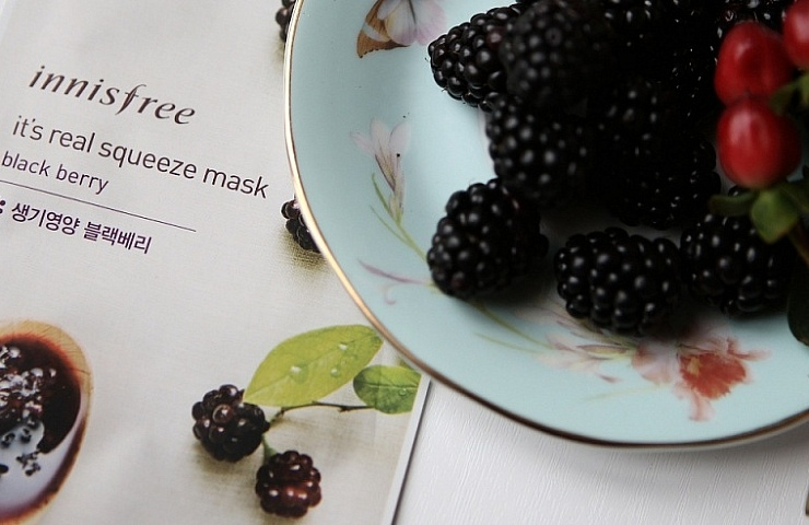 innisfree it's a real squeeze mask black berry review