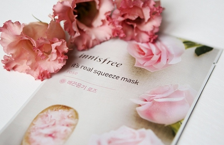 innisfree it's a real squeeze mask rose