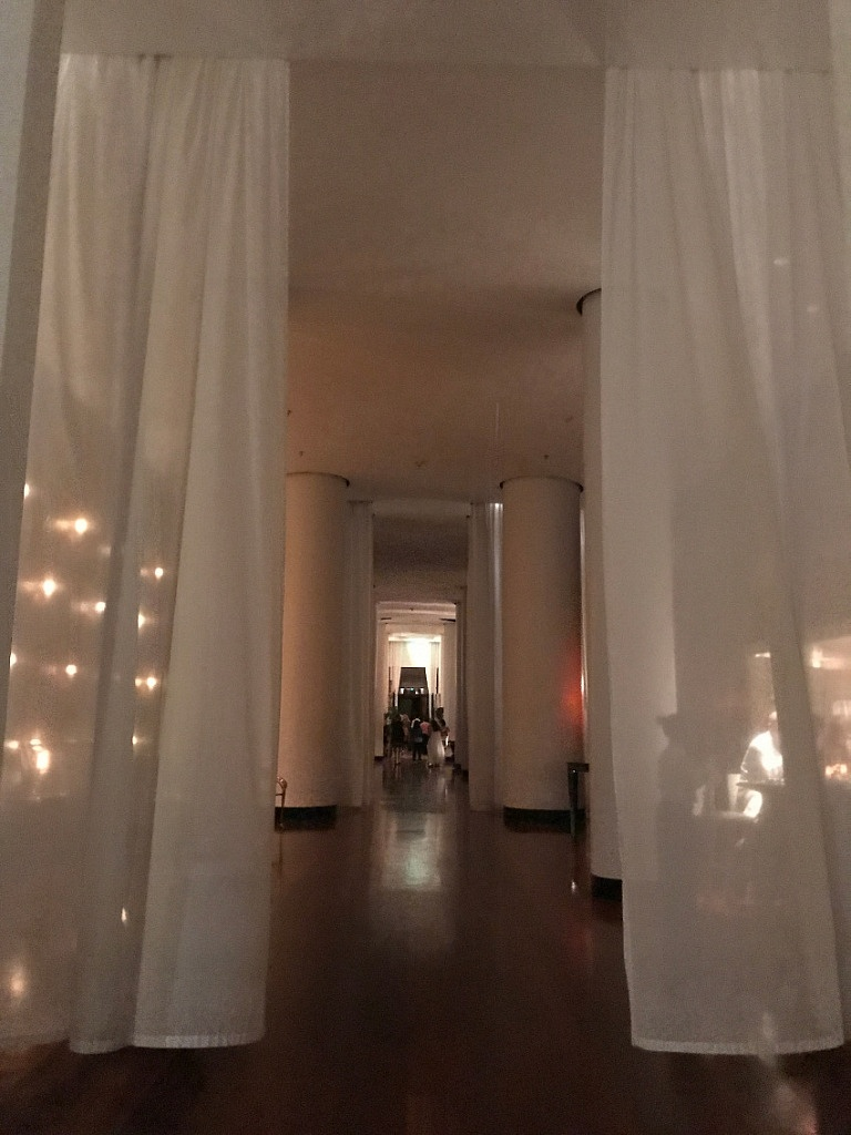 The lobby at The Delano Hotel
