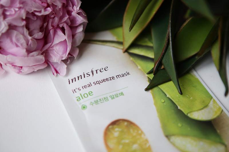 innisfree it's a real squeeze aloe sheet mask