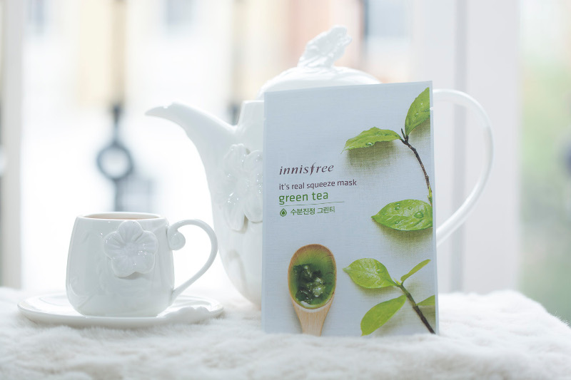 innisfree it's a real squeeze green tea sheet mask
