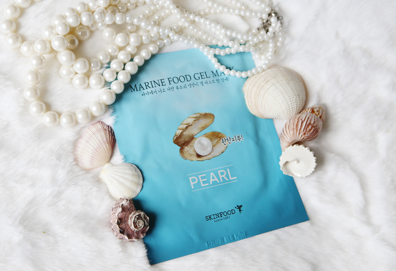 skinfood marine food gel peal sheet mask