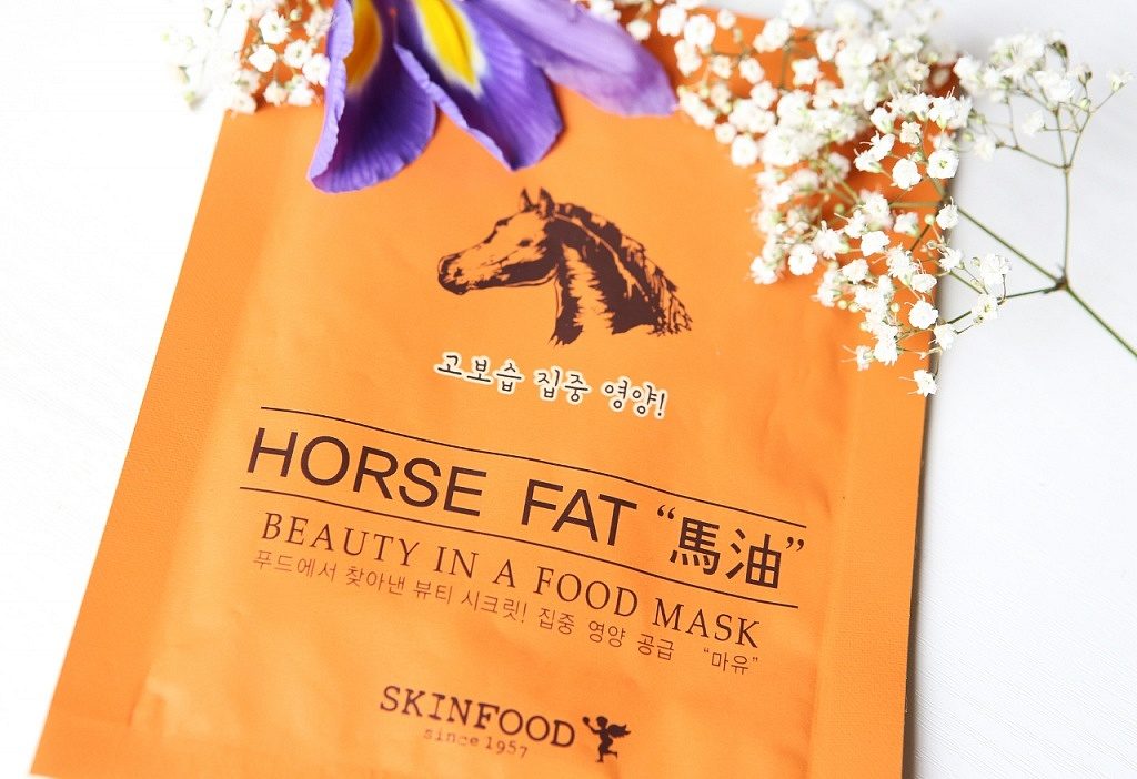 skinfood beauty in a food mask horse fat