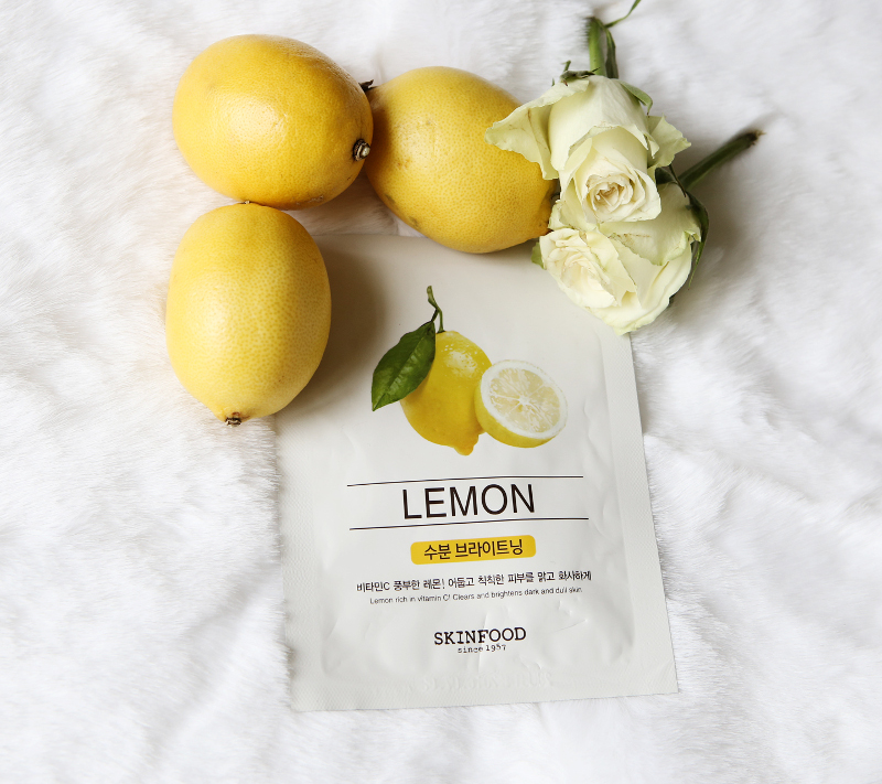 skinfood lemon sheet mask